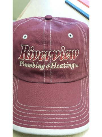Riverview Plumbing & Heating Baseball Cap by D R Designs, LLC.