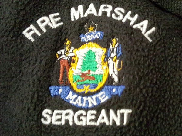Fire Marshal embroidered logo by D R Designs, LLC.