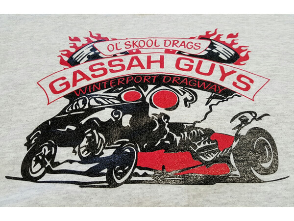 Gassah Guys logo on shirt by D R Designs, LLC.