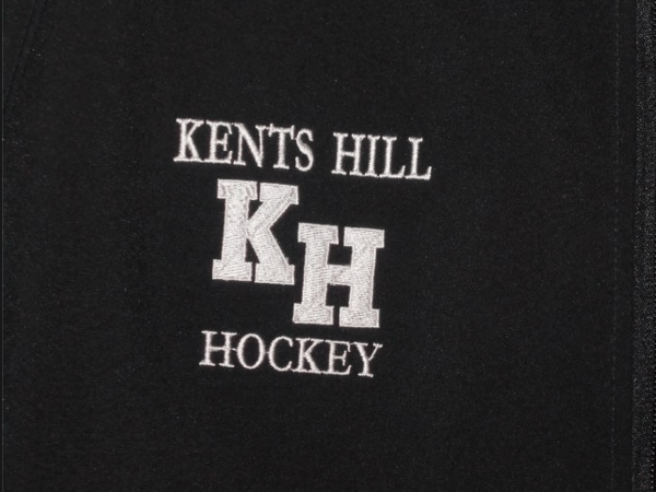 Kents Hill Hockey embroidered by D R Designs, LLC.