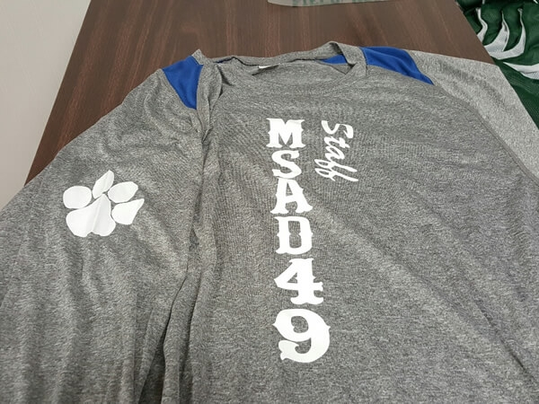 MSAD staff shirt by D R Designs, LLC.