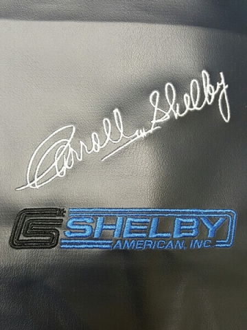 Shelby embroidered logo by D R Designs, LLC.