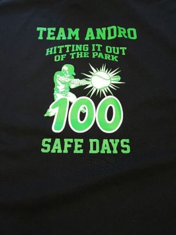 Team Andro logo on shirt by D R Designs, LLC.