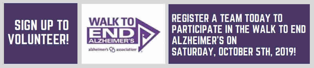Link to sign up for the October 5, 2019 Walk to End Alzheimer's